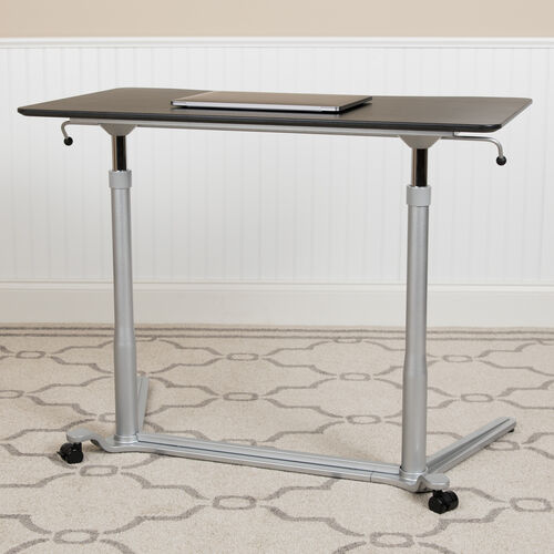 "Sit-Down, Stand-Up Black Computer Ergonomic Desk with 37.375""W Top (Adjustable Range 29"" - 40.75"")"