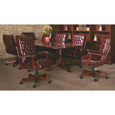 Quick Ship Bedford Traditional Rectangular Conference Table with 4-Footed Pedestal
