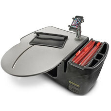 RoadMaster Truck Desk with Built-in Power Inverter and X-Grip Phone Mount - Grey