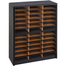 Value Sorter® Thirty-Six Compartment Literature Sorter and Organizer - Black