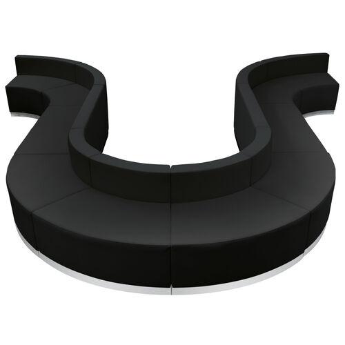 Our HERCULES Alon Series Black Leather Reception Configuration, 10 Pieces is on sale now.