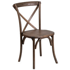 HERCULES Series Stackable Early American Wood Cross Back Chair