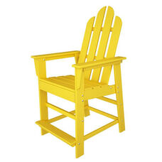 POLYWOOD® Long Island Collection Counter Chair - Vibrant Lemon