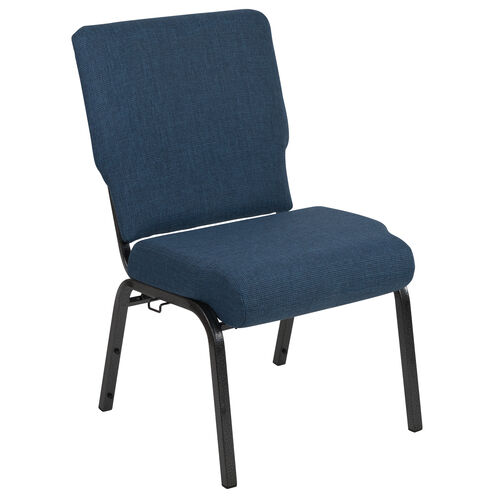 Our Advantage 20.5 in. Blue Basket Weave Molded Foam Church Chair with Book Rack is on sale now.