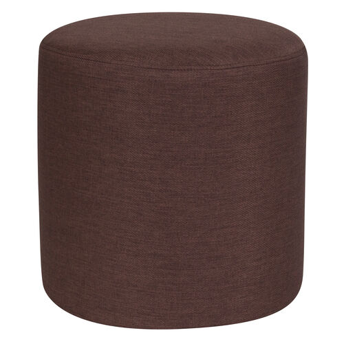 Our Barrington Upholstered Round Ottoman Pouf in Brown Fabric is on sale now.