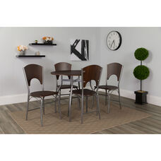 Hudson 5 Piece Walnut Finish Dinette Set with Chairs