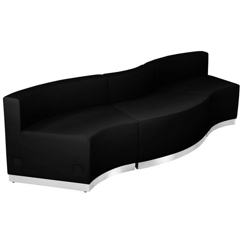 Our HERCULES Alon Series Black Leather Reception Configuration, 3 Pieces is on sale now.