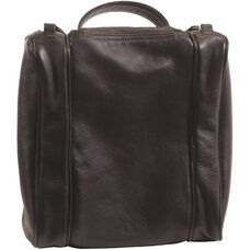 Deluxe Toiletry Bag - Genuine Leather - Black