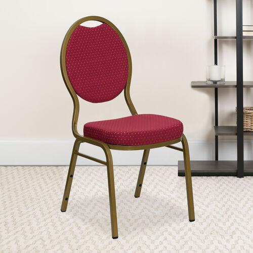 HERCULES Series Teardrop Back Stacking Banquet Chair