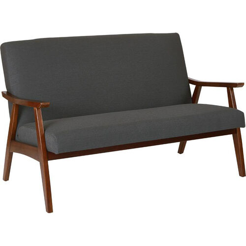 Our Ave Six Davis Loveseat - Klein Charcoal and Medium Espresso is on sale now.