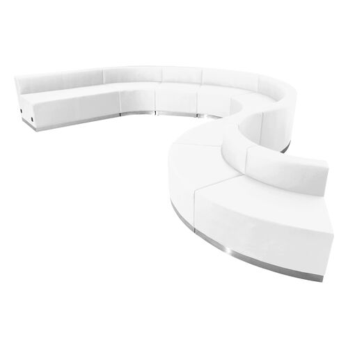 Our HERCULES Alon Series Melrose White LeatherSoft Reception Configuration, 9 Pieces is on sale now.