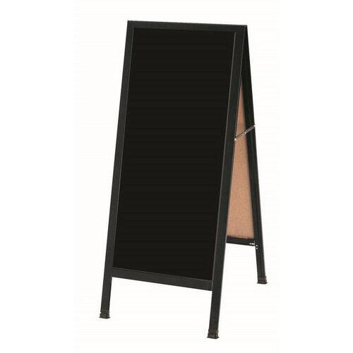 Our A-Frame Sidewalk Black Composition Chalkboard with Black Aluminum Frame - 42