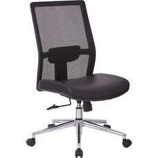 OSP Furniture Armless High Back Mesh Office Chair