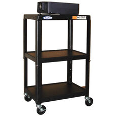 Height Adjustable Steel AV Cart