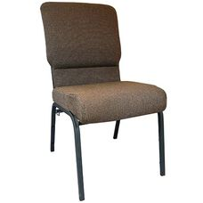 Advantage Java Church Chair with Book Rack 18.5 in. Wide