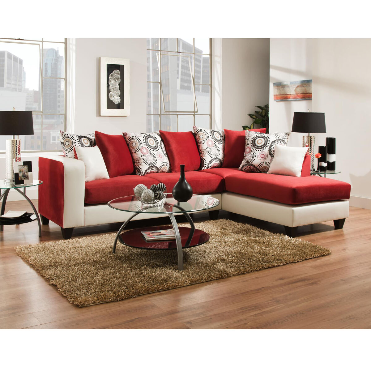 Flash furniture riverstone implosion red velvet sectional for Runescape xp table 1 99