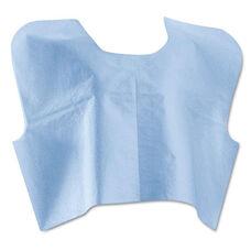 Medline Disposable Patient Capes - 3-Ply T/P/T - Blue 100/Carton