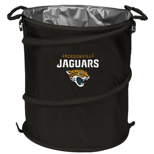 Our Jacksonville Jaguars Team Logo Collapsible 3-in-1 Cooler Hamper Wastebasket is on sale now.