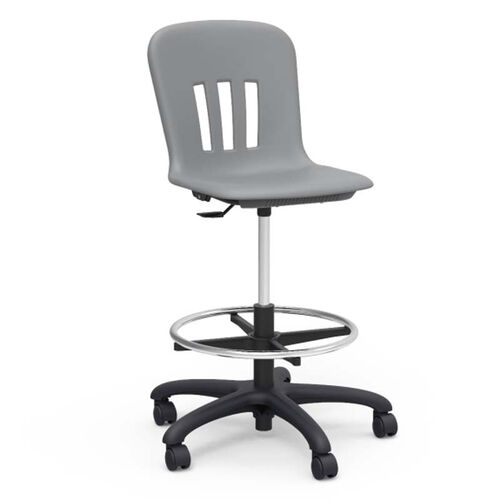 Our Metaphor Series Adjustable Height Lab Stool - Graphite - 24.13