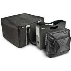Portable File Tote with One Hanging Portable File Holder and One Tablet Case - Black
