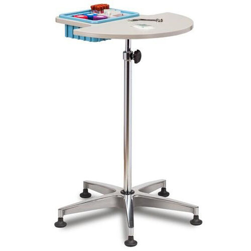 Our Half Round Stationary Phlebotomy Stand with ClintonClean™ Plastic Top and Removable Storage Bin is on sale now.