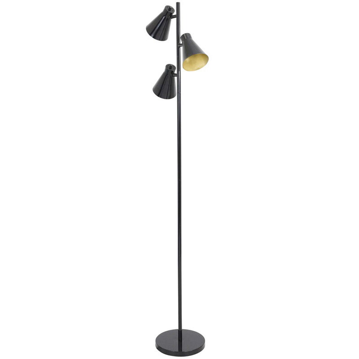 Lumisource Tres Industrial Floor Lamp With Gold Accents