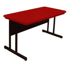 Blow-Molded Plastic Top Desk Height Rectangular Work Station - 24