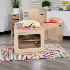 Children's Wooden Kitchen Stove for Commercial or Home Use - Safe, Kid Friendly Design