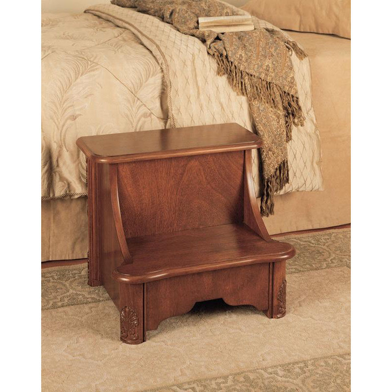 Our Bed Steps With Storage   Lightly Distressed Woodbury Mahogany Is On  Sale Now.