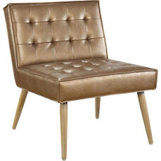Ave Six Amity Tufted Accent Chair with Solid Wood Legs - Sizzle Copper