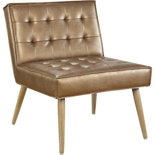 Our Ave Six Amity Tufted Accent Chair with Solid Wood Legs - Sizzle Copper is on sale now.