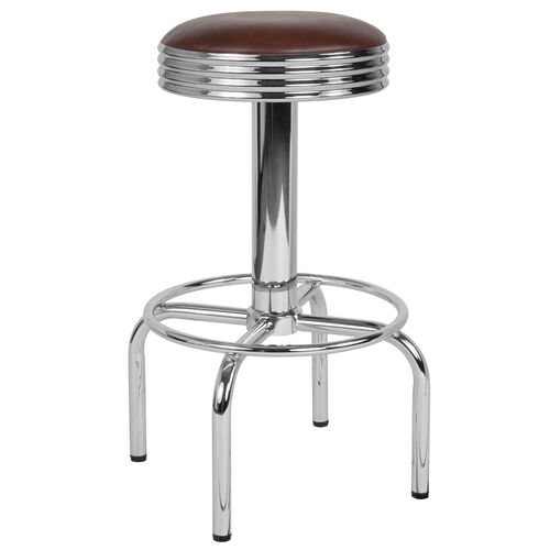 Our Retro Diner Barstool with Chrome Base in Brown Vinyl is on sale now.