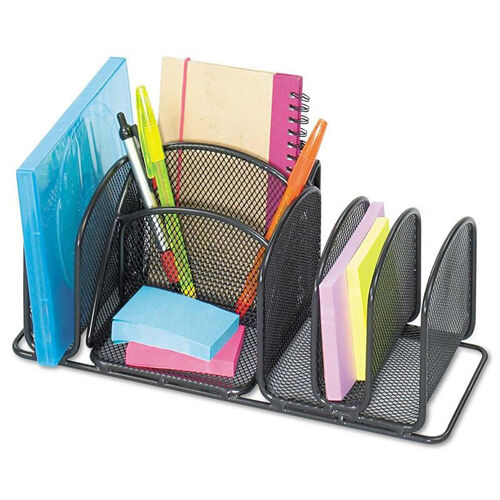 Our Safco® Deluxe Organizer - Six Compartments - Steel - 12 1/2 x 5 1/4 x 5 1/4 is on sale now.