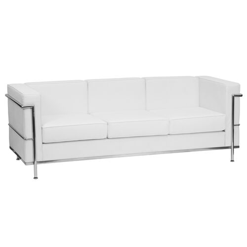 Our HERCULES Regal Series Contemporary Melrose White LeatherSoft Sofa with Encasing Frame is on sale now.