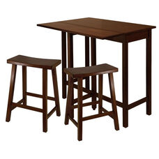 Lynnwood 3-Pc High Table Set with 2 Saddle Seat Stools