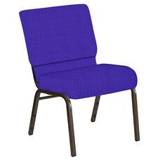 21''W Church Chair in Interweave Lilac Fabric - Gold Vein Frame
