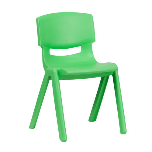 Our Green Plastic Stackable School Chair with 13.25