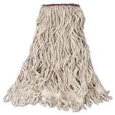 Rubbermaid® Commercial Super Stitch Blend Mop Head - Large - Cotton/Synthetic - White - 6/Carton
