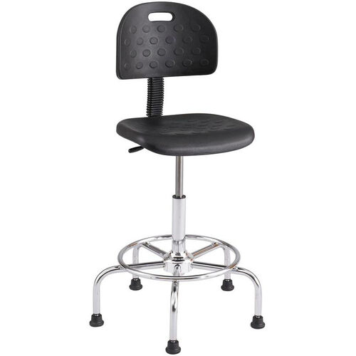 Our Workfit™ Economy Industrial Series Adjustable Height Drafting Stool - Black with Chrome Base is on sale now.
