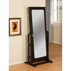Cheval Jewelry Wardrobe - Antique Black with Brown Lining