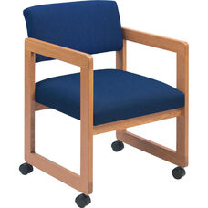 Classic Series Open Back Guest Chair with Sled Base and Casters