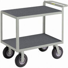 Instrument Cart with 2 Shelves and Non-Slip Vinyl Shelf Surface