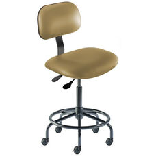 Quick Ship Bridgeport Series Chair with Adjustable Task Controls and Tubular Steel Base - Medium Seat Height