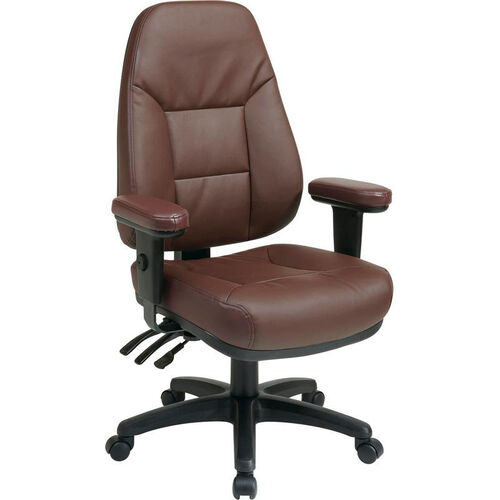 Our Work Smart Executive High Back Dual Function Ergonomic Office Chair with Height Adjustable Padded Arms - Burgundy is on sale now.