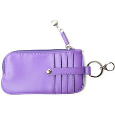 Chic Phone ID Credit Card Wallet - Genuine Leather - Purple