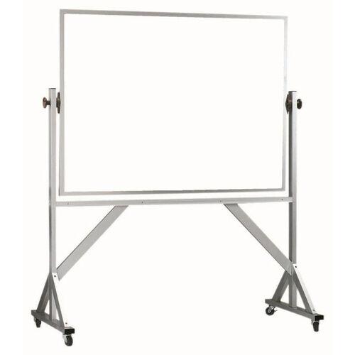 Reversible Free Standing White Porcelain Marker Board with Aluminum Frame - 36