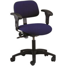 Industrial Cloth ABS Base Task Chair with Dual Wheel Casters and Adjustable Armrests