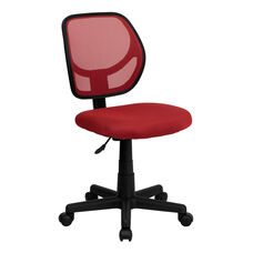 Mid-Back Red Mesh Swivel Task Chair