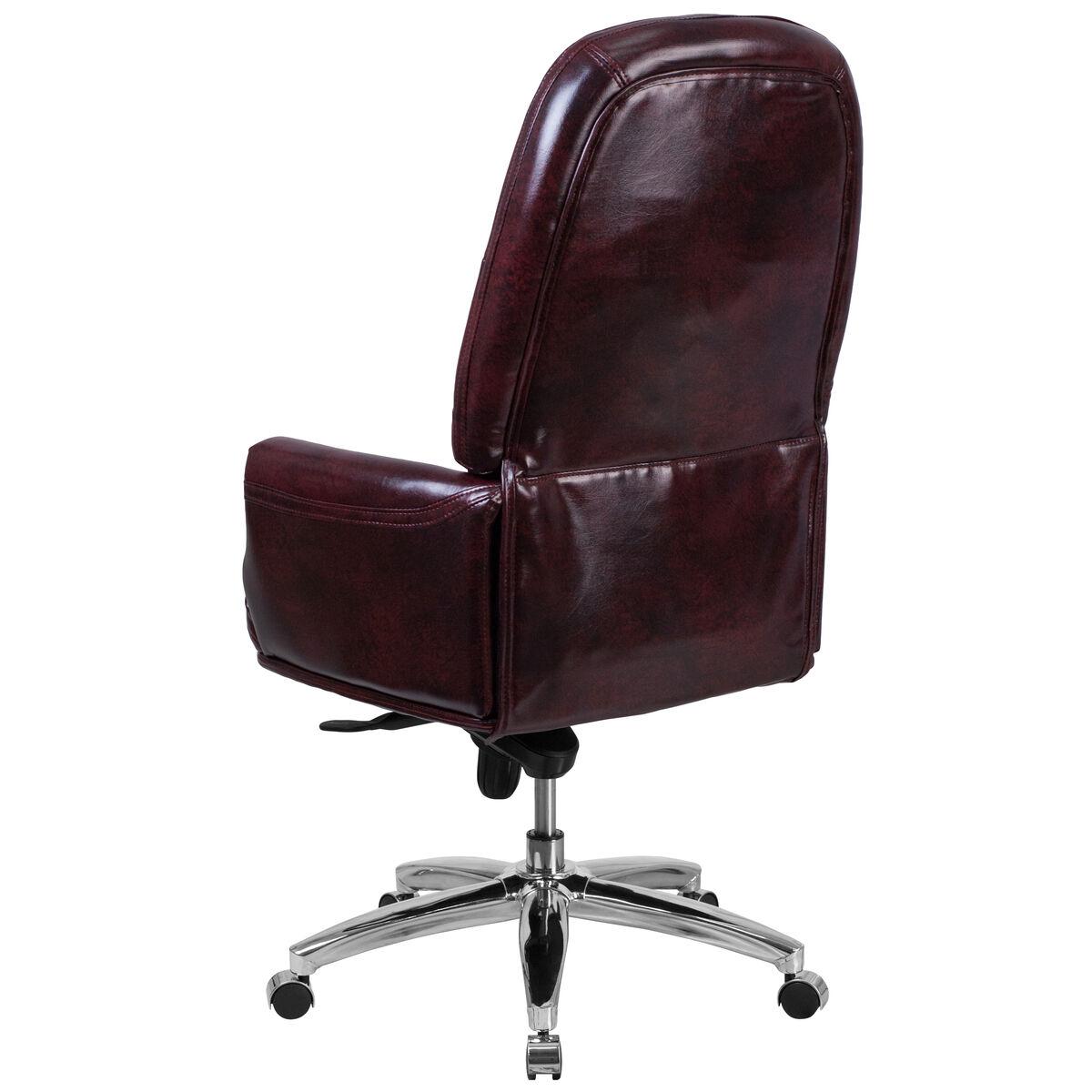 Burgundy High Back Chair Bt 90269h By Gg Bizchair Com