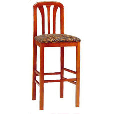 6919 Bar Stool w/ Upholstered Web Seat w/ Brass Trim on Foot Rest - Grade 1